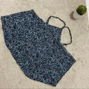 American Eagle Outfitters Crop Top M Blue & Black
